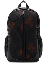 Emporio Armani Camouflage Print Backpack Black