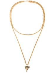 Givenchy Shark Tooth Pendant Necklace Metallic