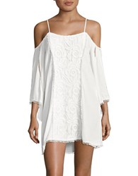 L Space Embroidered Cold Shoulder Cover Up Tunic Ivory