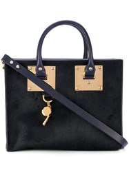 Sophie Hulme Medium Albion Box Tote Women Leather One Size Blue