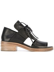 Marsell Cut Out Open Toe Sandals Women Calf Leather Leather 37 Black
