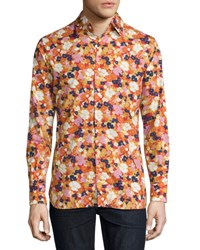 Tom Ford Floral Print Woven Shirt White Floral