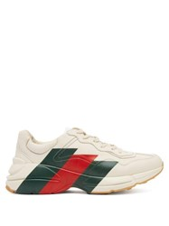Gucci Rhyton Leather Low Top Trainers White Multi