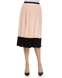 Kate Spade Pleated Midi Two Tone Skirt