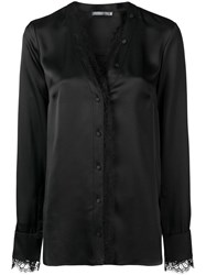 Alexander Mcqueen Lace Trim Blouse Black
