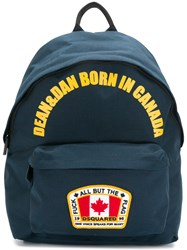 Dsquared2 Dean And Dan Born In Canada Backpack Blue