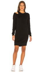 N Philanthropy Mia Sweatshirt Dress In Black. Black Cat