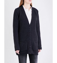 Closed V Neck Knitted Cardigan Navy