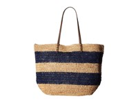 Hat Attack Ibiza Tote Navy Natural Stripes Tote Handbags Brown