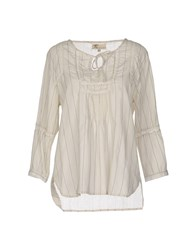 Local Apparel Shirts Blouses Beige