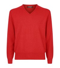 Harrods Cashmere V Necksweater Red