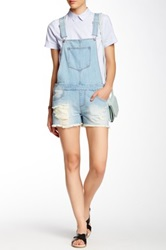 Fire Denim Short Overall Blue