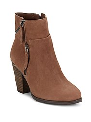 Vince Camuto Leather Almond Toe Ankle Boots Medium Beige