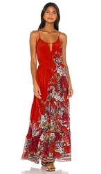 Camilla Dress With Front Tie In Red. Wonderin