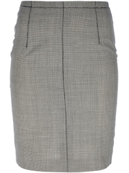 Jean Paul Gaultier Vintage Houndstooth Pencil Skirt Black