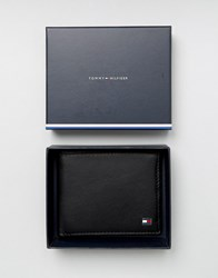 Tommy Hilfiger Eton Mini Billfold Leather Wallet In Black Black