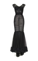 Dolce And Gabbana Sleeveless Mermaid Dress Black