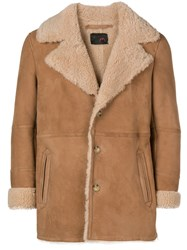 Sylvie Schimmel Shearling Jacket Nude And Neutrals