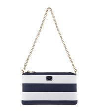 Dolce And Gabbana Block Stripe Micro Bag Female White