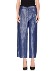 Mauro Grifoni Trousers Casual Trousers Women Blue