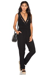 Twelfth St. By Cynthia Vincent Crossover Jumpsuit Black