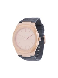 D1 Milano Ultrathin Watch Suede Steel Grey