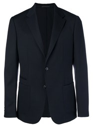 Z Zegna Slim Fit Suit Jacket Blue