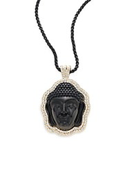Natasha Buddha Pendant Necklace Black