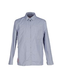 Prada Shirts Shirts Men Blue