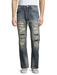 Cult Of Individuality Rebel Whiskered Cotton Jeans Trellis