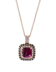 Effy Final Call Diamond Rhodolite And 14K Rose Gold Pendant Necklace