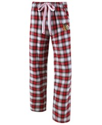 Concepts Sport College Women's Chicago Blackhawks Forge Flannel Pants Red Black