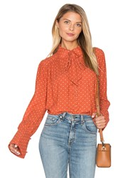 Free People Kennedy Blouse Burnt Orange