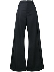 Jacquemus High Waisted Wide Leg Trousers Blue