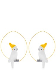 Nach Cockatoo Hoop Earrings White
