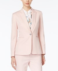 Tahari By Arthur S. Levine Tahari Asl One Button Blazer Resort Pink