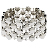 Monet Coin Statement Stretch Bracelet Silver