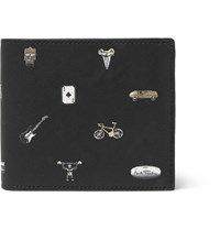 Paul Smith Printed Grained Leather Billfold Wallet Black