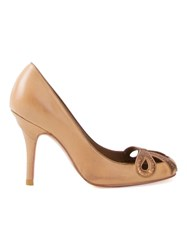 Sarah Chofakian High Heel Pumps Brown
