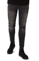 Topman Men's Ripped Spray On Skinny Fit Jeans