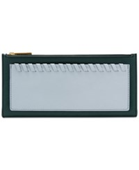 Fossil Shelby Clutch Wallet Indian Teal Gold