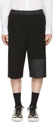 Mcq By Alexander Mcqueen Black Panelled Zipper Shorts