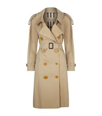 Burberry Oversized Cotton Trench Coat Yellow