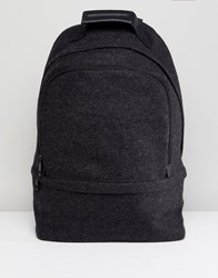 Asos Backpack In Charcoal Melton Grey