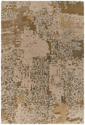 Chandra Rupec Patterned Rectangular Contemporary Area Rug Beige Green 5' X 7'6 Gray