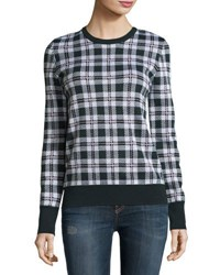 Equipment Shane Plaid Wool Sweater Ivory Multi