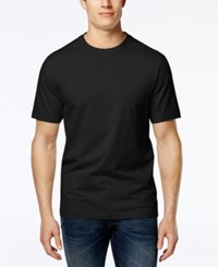 Club Room Men's Paxton Crew Neck T Shirt Only At Macy's Deep Black