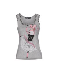 X's Milano Topwear Vests Women Light Grey