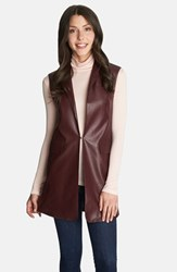 Women's 1.State Long Faux Leather Vest