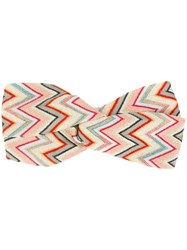 Missoni Embroidered Hairband Green